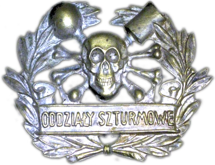 Cap badge of the Polish Storm Detachment during Silesian Uprisings.