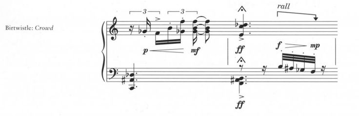 sometimes a simple sloping arrow can be used to indicate a local rall or accel, as pictured #booseyfact