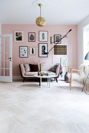 Acentos de color: rosa pálido - Blá