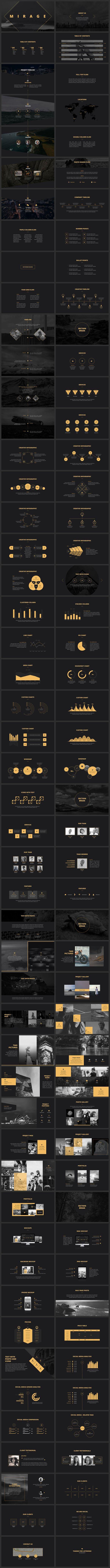 Mirage #PowerPoint #Template by SlideStation on @Creative Market creativemarket.co... #design #creative #creativity #templates #presentations #ppt #slide