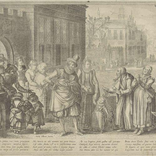 Rijke kinderen, arme ouders, Anonymous, after David Vinckboons, 1612 - 1652 - Rijksmuseum