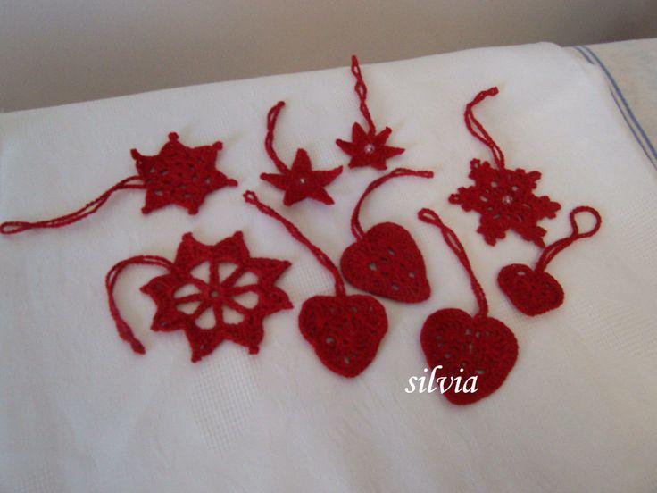 ornamente-stele si inimioare crosetate
