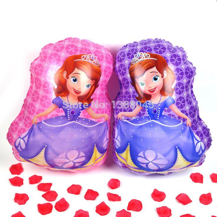 2 Шт./лот Princess Sofia Фольгированные Шары День Рождения Свадебные Принадлежности Дети Классические Игрушки