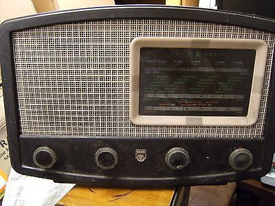 EKCO U143 VALVE RADIO 1949 vintage 3 AM bands untested, spares repairs LW SW MW