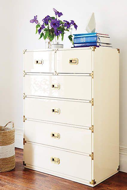 Lacquered Wellington Six Drawer Dresser