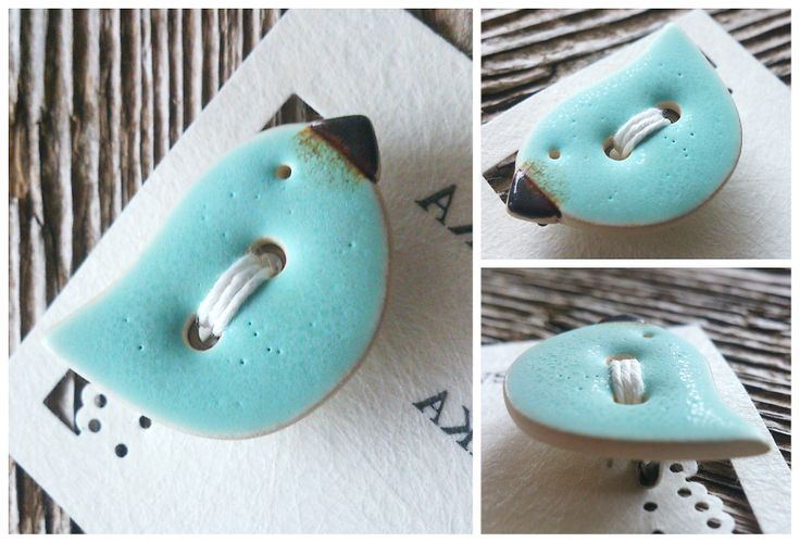 ceramic button - brooch / ceramiczny guzik - broszka facebook.com/ceramikashe