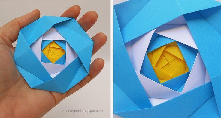 origami - escarapela argentina realizada con papel plegado