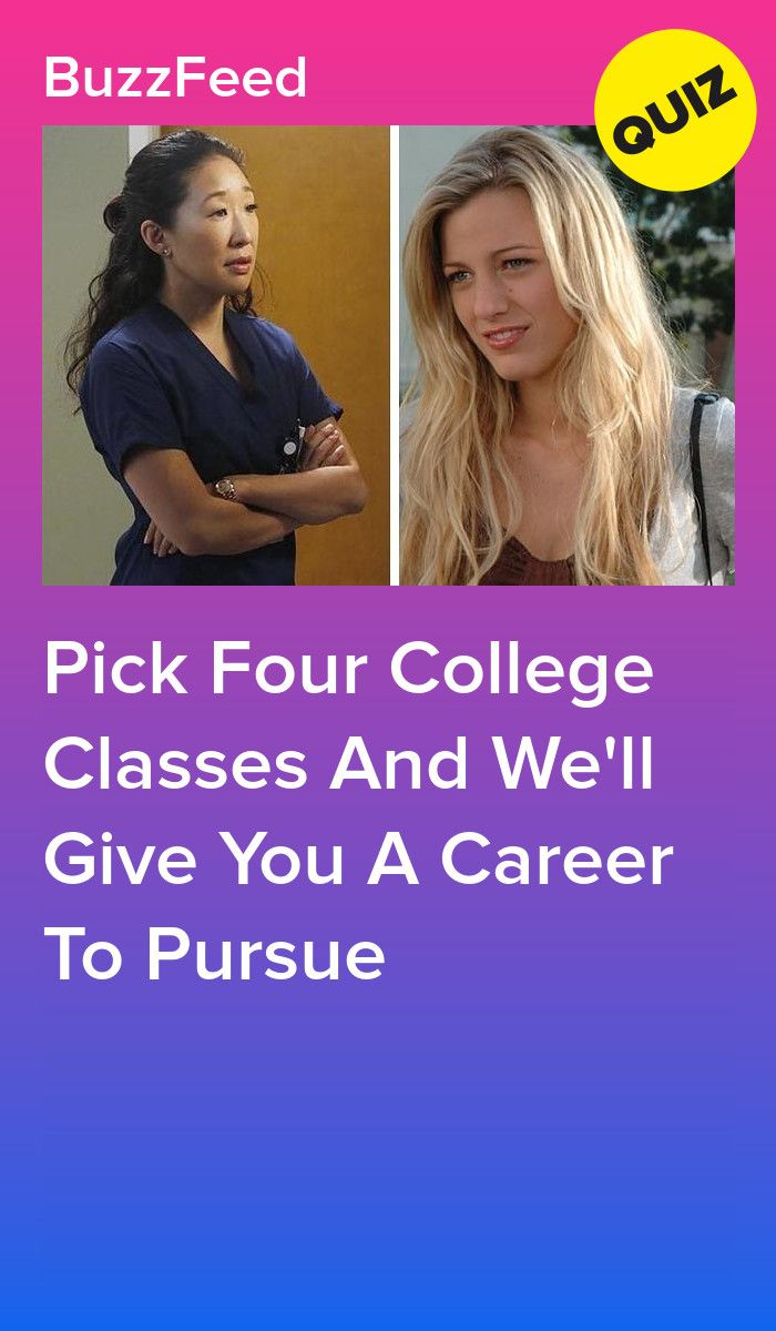 Pick Your College Classes And We'll Give You A Career To Pursue