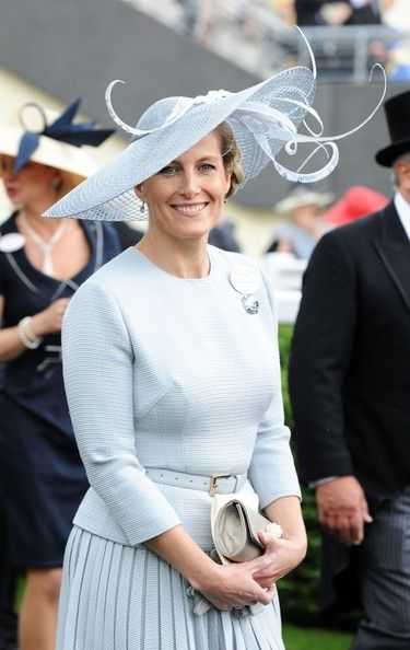 HRH the Countess of Wessex has been pictured at Royal Ascot 2012 in a variety of Jane Taylor hats.