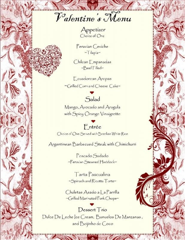 17 best images about valentine dinner menus on pinterest for Romantic valentine dinner menu ideas