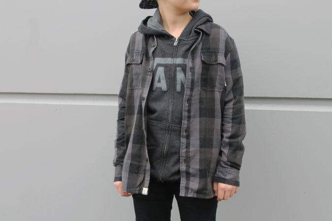 @vans Boy's Alameda Buttondown Shirt & Classic Zip Hoody