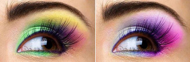Maquillaje de ojos estilo arcoíris