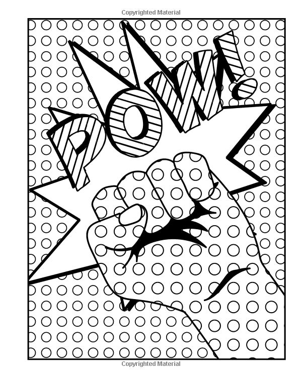 Amazon.com: Pop Art Coloring Book For Adults: Stress ...