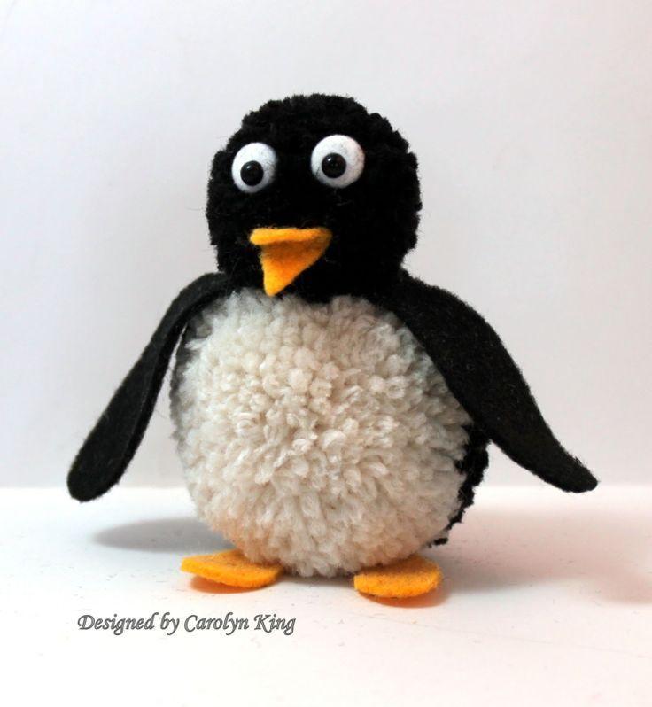 Penguin Pom Pom Animal - Super Cute!