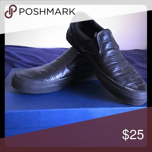 Black opening ceremony x vans slip on shoe Black leather slip on shoe - opening ceremony x Vans Vans Shoes Sneakers