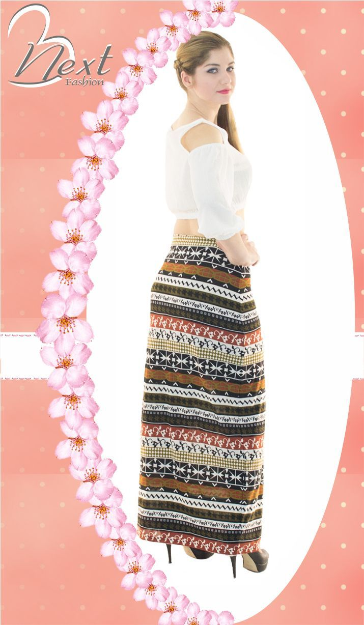 #woman's #fashion #long #skirts #cropped #top #ethnic #style #spring #2016 #Γυναικεια #μοδα #φούστα #μακριά #εμπριμέ #έθνικ #κοντή #μπλούζα #άνοιξη