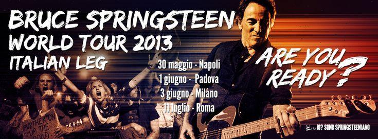Bruce Springsteen Tour 2013 FB cover by DanieleBenedetti.deviantart.com
