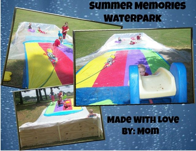 A water park in your own yard?! Yep, and here are the easy-to-follow directions. It's frugal and fun! Your kids will love for it!