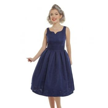 Felicia Blue Floral Swing Dress | Vintage Inspired Fashion - Lindy Bop