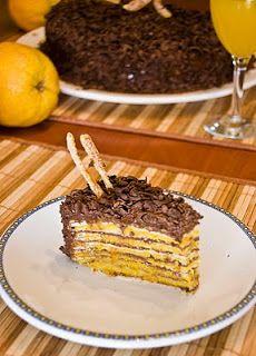 Naranja Morena: Torta de Panqueque Chocolate Naranja