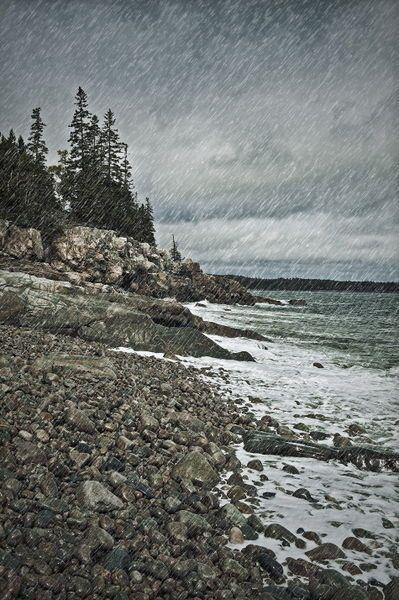 Reminds me of home -- 'Coastal rain storm, Maine, USA' by John Greim