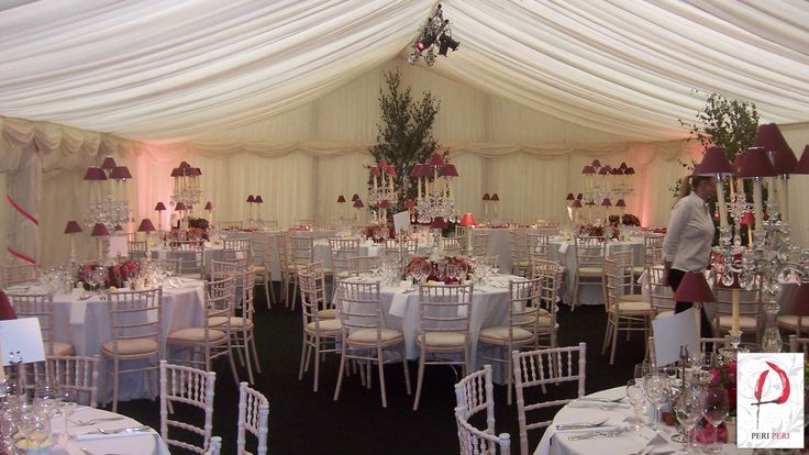 Marquee dinner set-up #marquee #event #PeriPeri