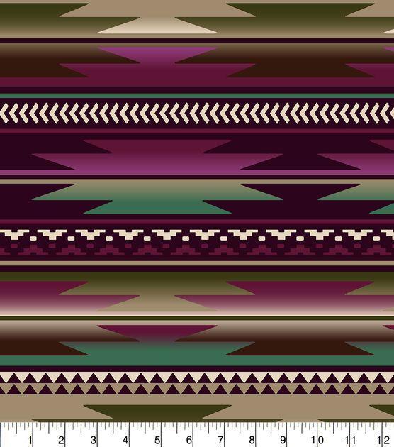 "Anti-Pill Fleece Fabric 58""-Aztec Wine Moss Cream"