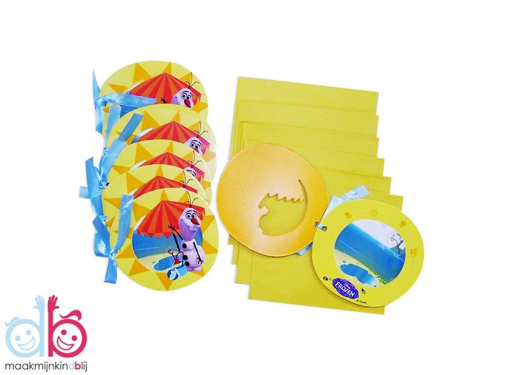 Disney Frozen Olaf uitnodigingen met envelop. De verpakking heeft een inhoud van 6 stuks.  Uitnodigingen hebben een afmeting van 9x8cm.