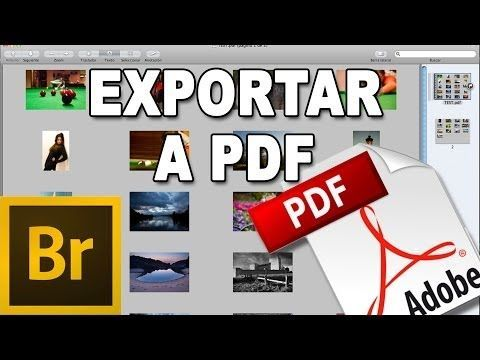 ▶ Exportar fotos a PDF - Tutorial Adobe Bridge en Español por @Prisma Tutoriales - YouTube