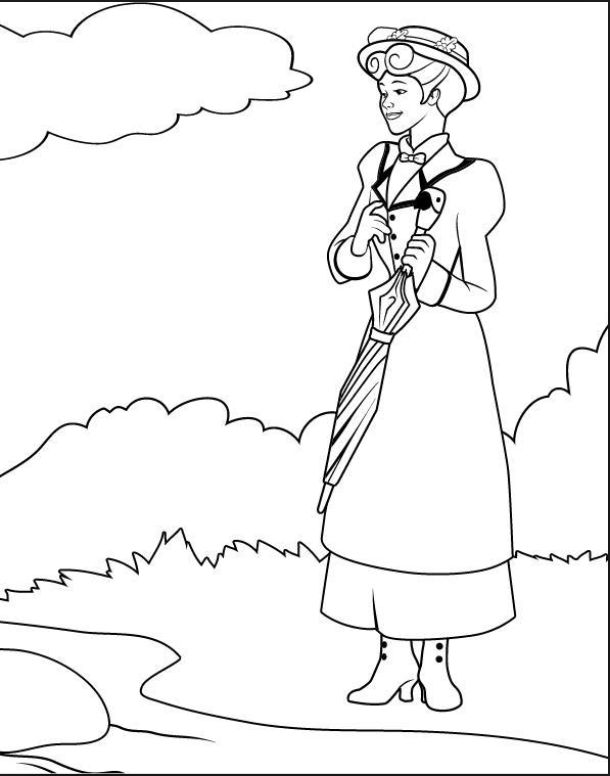 105 best Mary Poppins images on Pinterest | Coloring books ...