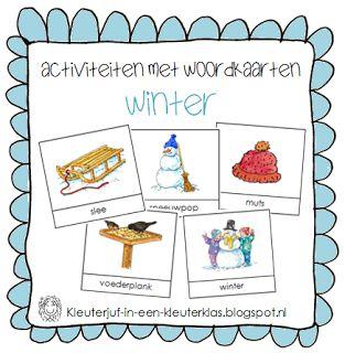 Activiteiten met woordkaarten | Thema WINTER De woordkaartjes zijn staan in een PDF bestandje.