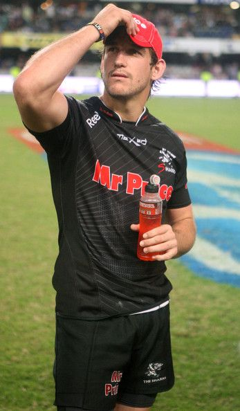 Keegan Daniel during the Super Rugby round 12 match between The Sharks and Force from Mr Price Kings Park on May 12, 2012 in Durban, South Africa. #Super #Rugby #Sharks #Force