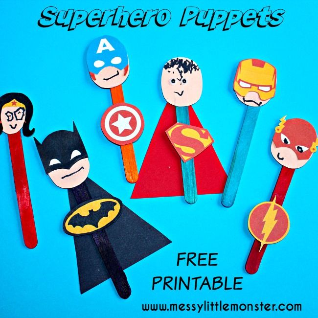 Superhero Puppet Template | 141764c49dc7eb3ab2c8892411bc5f0d july crafts summer crafts