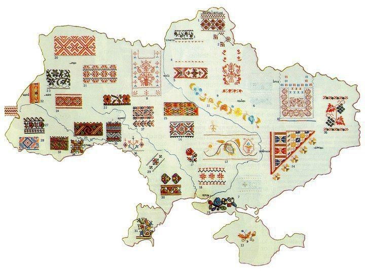 me, embroidery and the geek: Ukrainian embroidery map