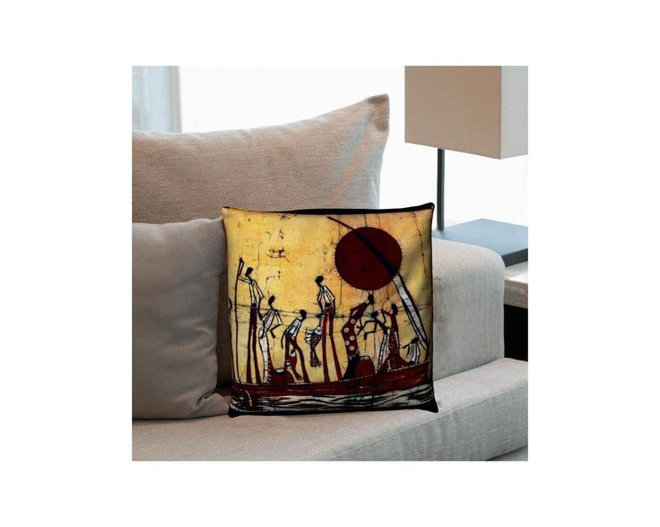 Africa scene Batic Style, διακοσμητικό μαξιλάρι ,9,90 €,https://www.stickit.gr/index.php?id_product=17575&controller=product