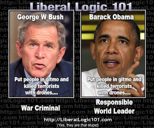 Liberals are followers and Bush is a leader. Its better to be right than popular?