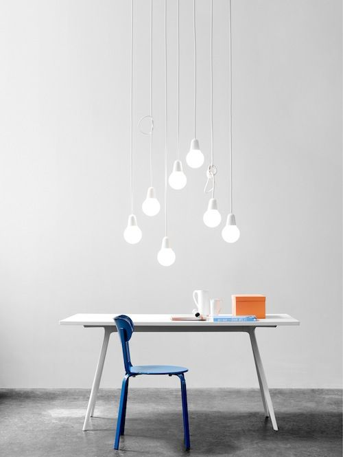 A light by KiBiSi that gives you that bare incandescent bulb look.