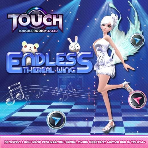 Dapatkan dan pakai sayap-sayap keren di event terkini . Gabung di game casual dance KPOP : Touch Online > http://touch.prodigy.co.id/
