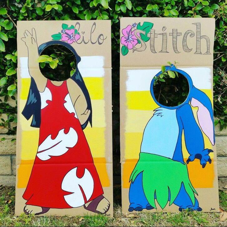 Custom lilo and stitch photo cut-out props Etsy: mylittlenotestore