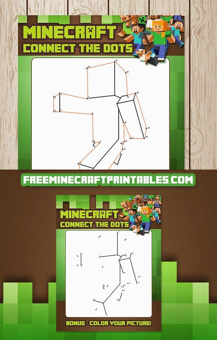 Free Minecraft Printables: Free Printable Minecraft Dot to Dot Game