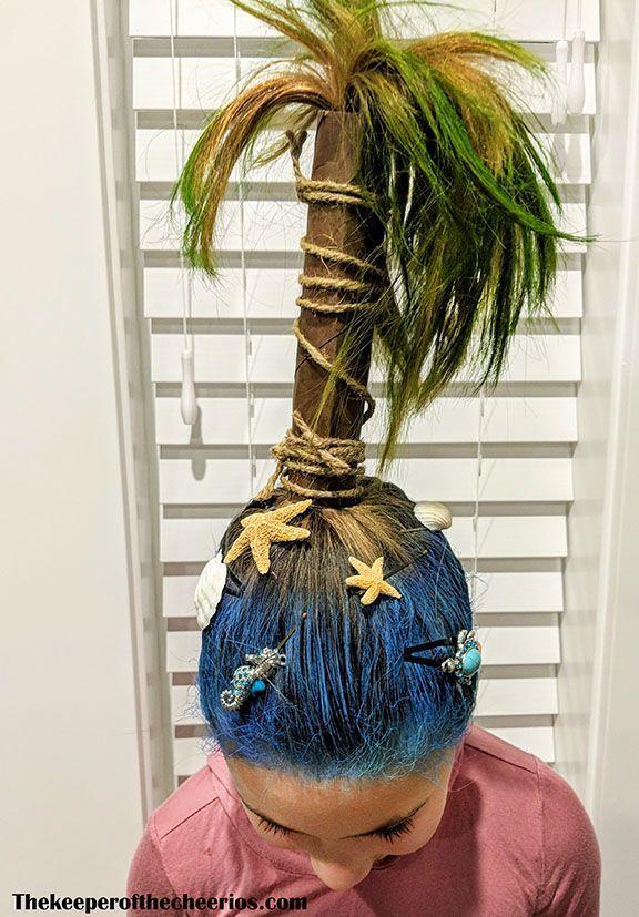 Crazy Hair Tag Palm Tree Hair Friseure Wacky Hair Days Wacky Hair Crazy Hair For Kids
