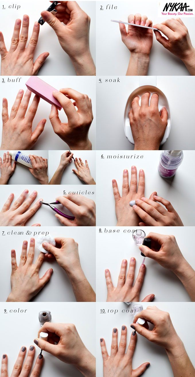 how to do manicure and pedicure step by step