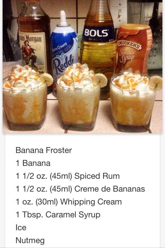 Banana Foster Mmmm... This will be my dessert thanks Chris love ya❤️  # tipsy Bartender
