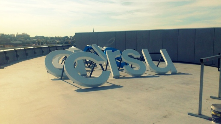 fabricated 3D letters, LED illumination