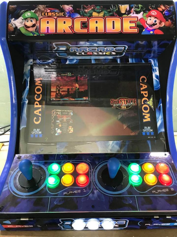 Custom Bartop ArcadeMachine with Hyperspin and 16,000 Games