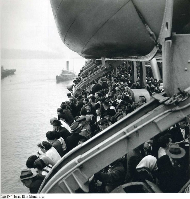 The last boat accepted at Ellis Island - 1950 - photo by Ernst Haas