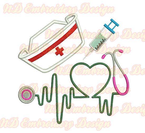 Nurse Embroidery Designs
