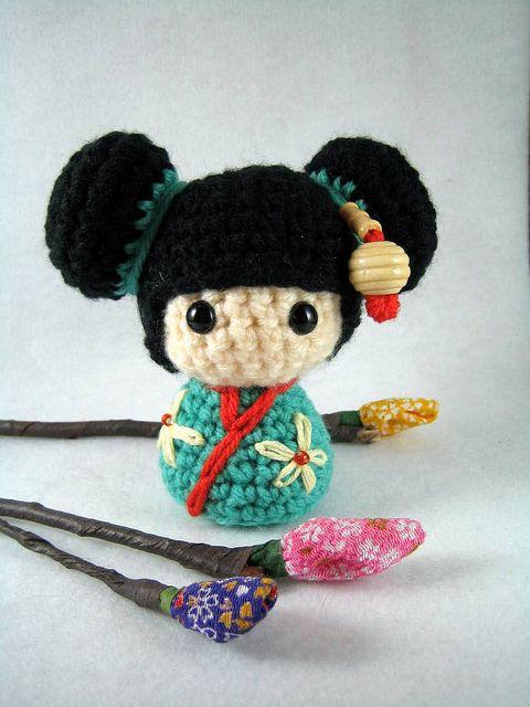 Haruko, an amigurumi kokeshi doll | Flickr - Photo Sharing!