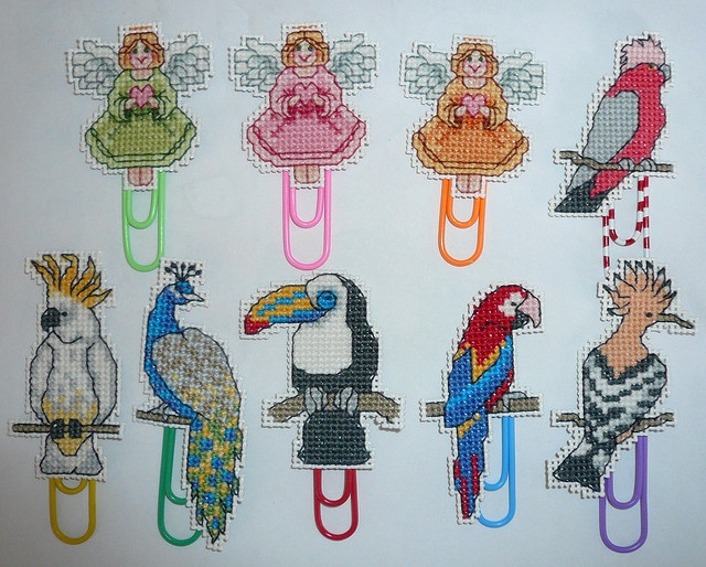 Peacock Cross Stitch Bookmark