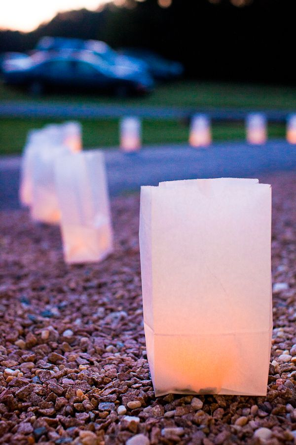 Paper Bag Luminaries For The Deck Can Cut Out Stencil Or Decorate Outside Of